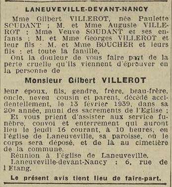 15 fevrier 1939