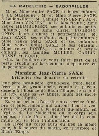 27 juillet 1939