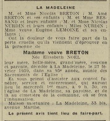 28 fevrier 1939